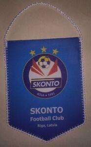 Football team FC SKONTO RIGA (LATVIA) pennant 12x9cm (Blue)