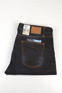 32813 Nudie Jeans Big Bengt Night Thunder Dunkelblau Herren Jeans Größe 38/34