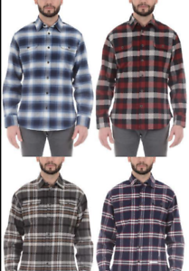 Jachs-Men-039-s-Brawny-Flannel-Shirt-Long-Sleeve-Cotton-Select-Color-amp-Size-NWT