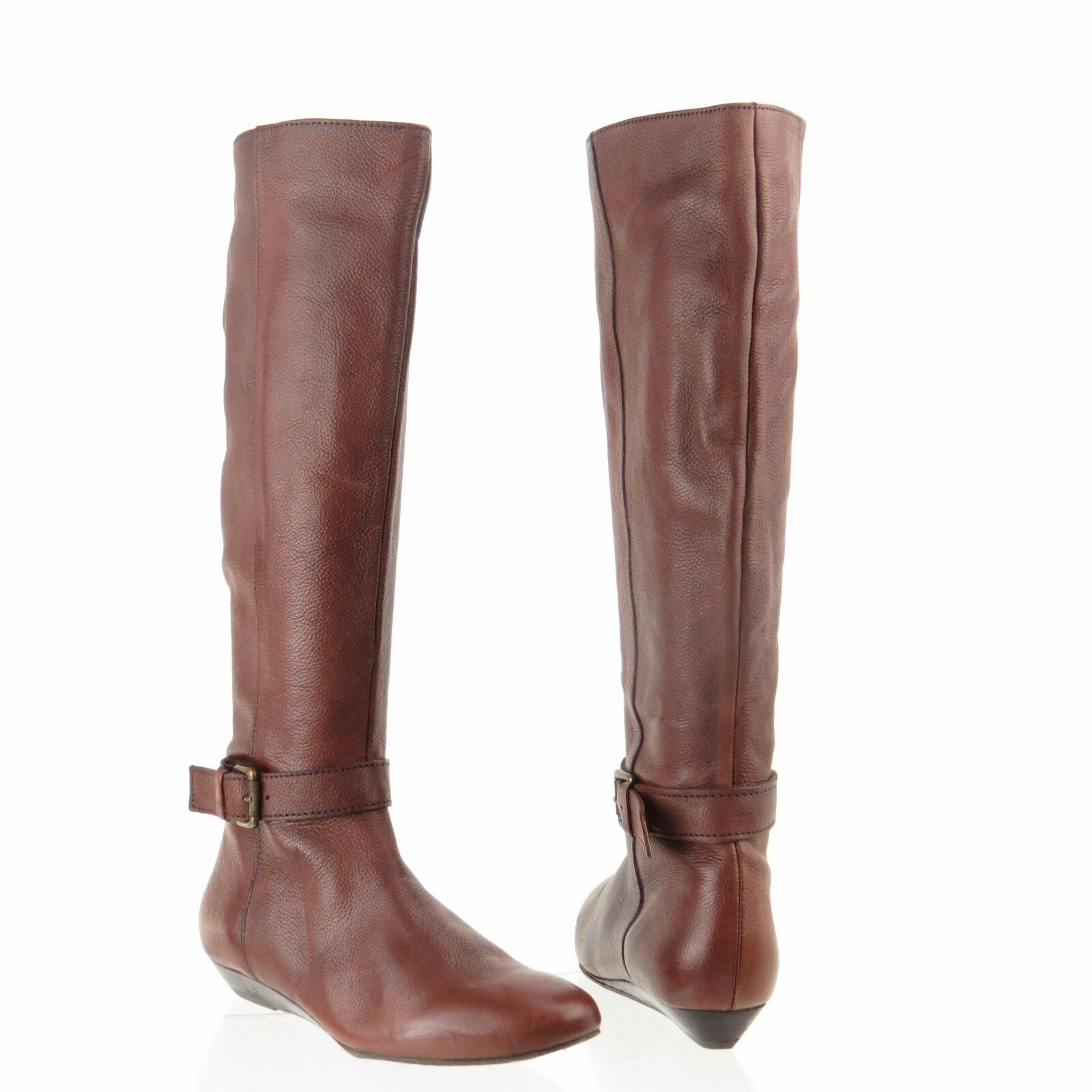 Women's Ciao Bella Leslie shoes Brown Leather Knee High Zip Up Boots Size 6 M
