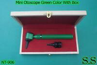 Mini Otoscope Green Color Diagnostic Set With Box, Nt-906