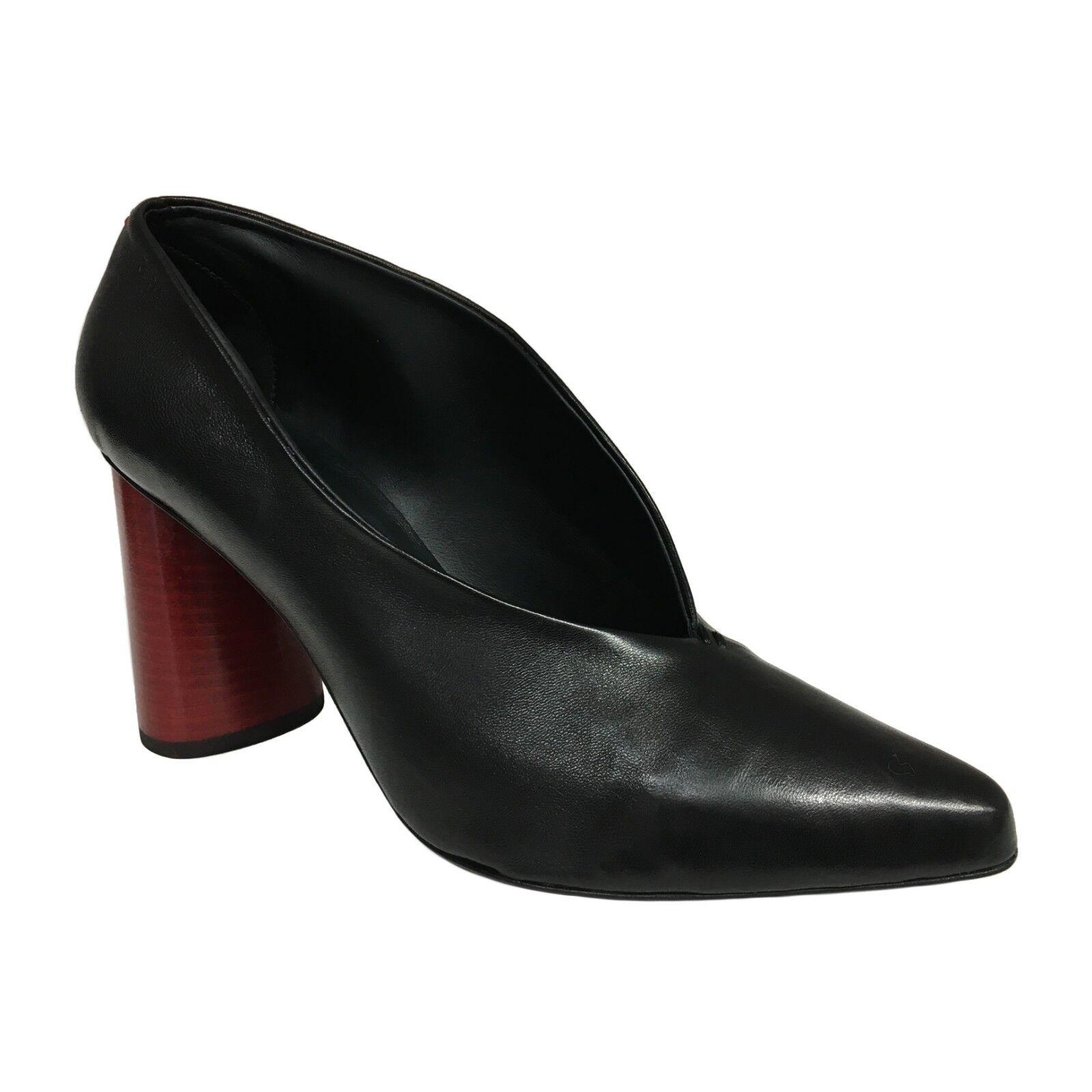HALMANERA -skor för kvinnor med svart häl röd mod GIOVI 02 100% läder
