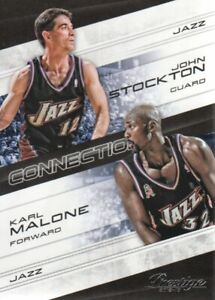 2012-13-Prestige-Connections-24-Karl-Malone-John-Stockton-NM-MT
