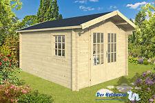 40mm Gartenhaus Julia ISO Blockhaus 300x500 cm Gerätehaus Holzhaus Holz Schuppen