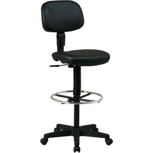 Pleasant Tall Work Shop Stool Rolling Swivel Chair Adjustable Height Garage Seat Footrest Short Links Chair Design For Home Short Linksinfo