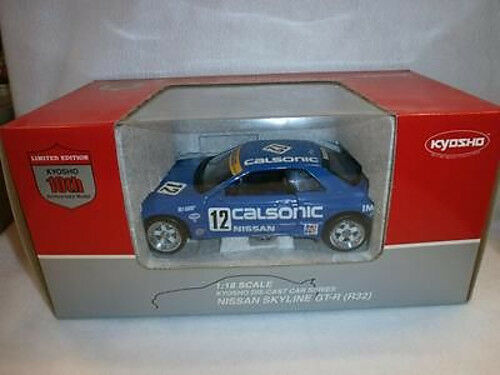 1:18 Kyosho Nissan Skyline Gt-R R32 1990 Calsonic  12, 10th Anniversary