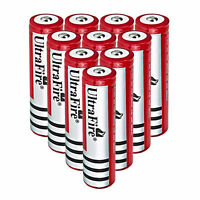 10PCS Ultrafire 18650 Rechargeable 4000mah 3.7v Battery For Flashlight Torch US