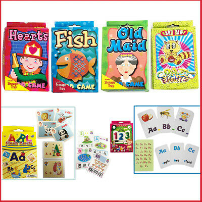 Kids Flash Cards Educational Flashcards Learning Numbers Alphabet Words  Maths | eBay