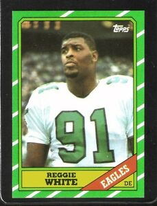 Details About 1986 Topps 275 Reggie White Philadelphia Eagles Rookie Card Nmmt