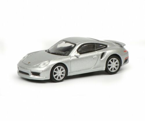 Schuco 1:87 452633100 Porsche 911 Turbo S plata nuevo embalaje original 991