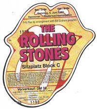 The Rolling Stones    In Concert 1982    Ticket / Konzertkarte / Eintrittskarte