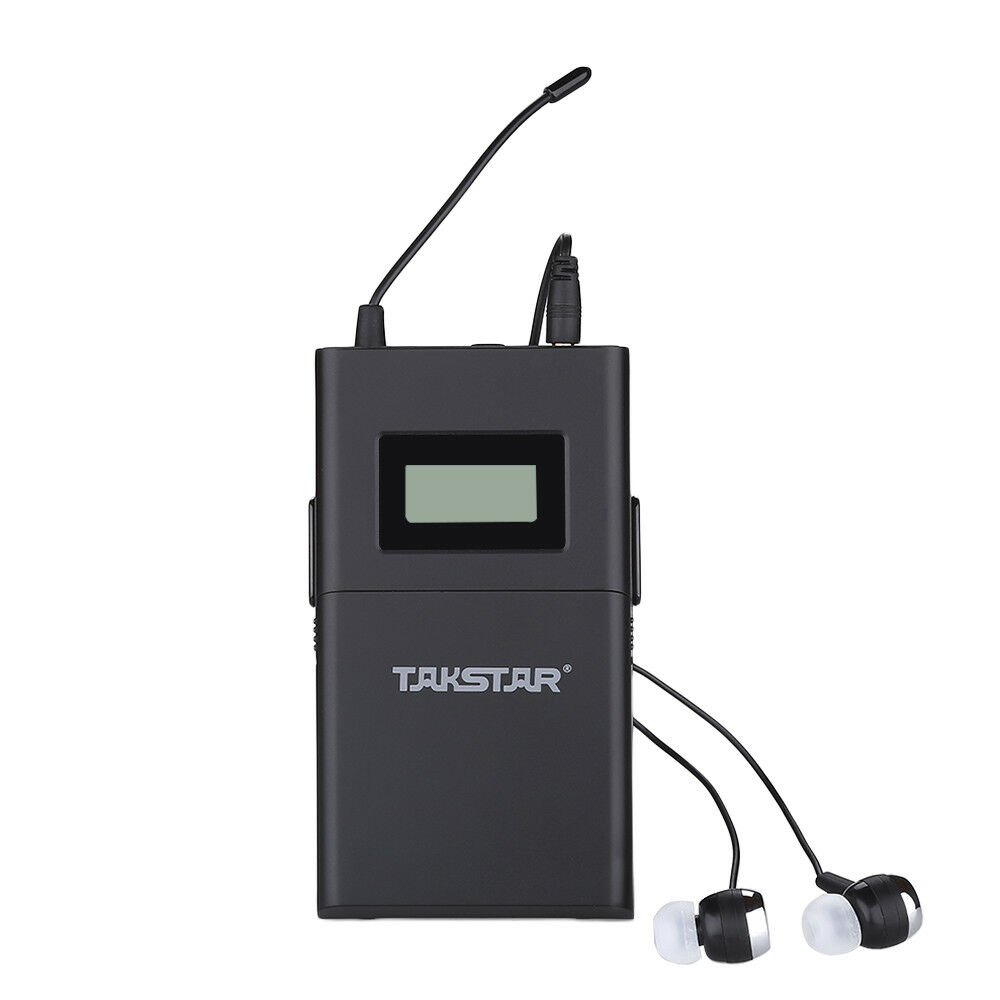 Takstar wpm-200 Wireless Receiver  Stereo 780-789MHz Monitor System W In-Ear Mic