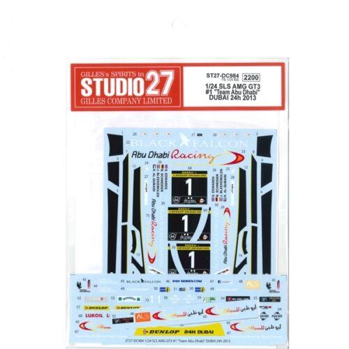 Studio27 ST27-DC984 Mercedes-Benz SLS AMG GT3 #1 Decal for Fujimi 1//24