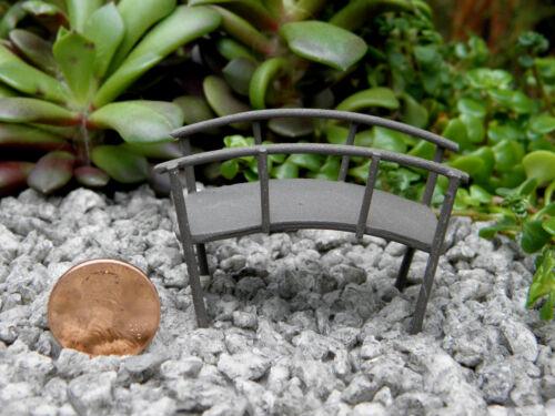 Miniature Dollhouse FAIRY GARDEN Furniture ~ TINY Micro Mini Rustic Metal Bridge