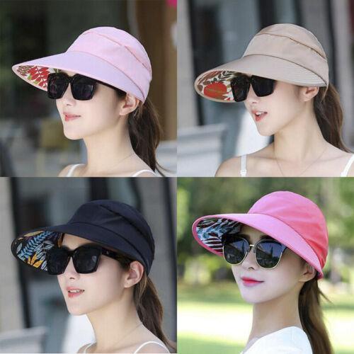 Women/'s Anti-UV Fashion Wide Brim Summer Beach Sun Outdoor Hiking Folding Hat FT
