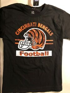 9390243aeff Image is loading Black-Cincinnati-Bengals-Distressed-Print-Youth-Size-Large-