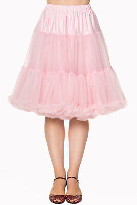 Light Pink 50/'s Rockabilly Super Soft 23 inches Petticoat Skirt Banned Apparel