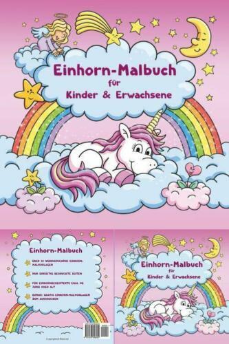 Einhorn-Malbuch für Kinder BONUS Einhorn-Malvorlagen zum Ausmalen Ausmalbilder