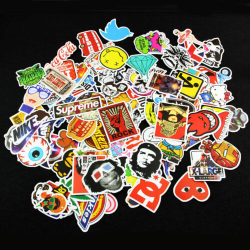200pcs Random Vinyl Decal Graffiti Sticker Bomb Laptop Waterproof Skate Stickers