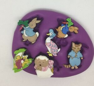 Beatrix-Potter-Silicone-Mould-Topper-Girls-cupcake-peter-Rabbit-duck-nursery