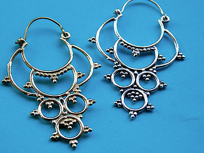 Brass Earrings. Tribal, Ethnic. (EH67)