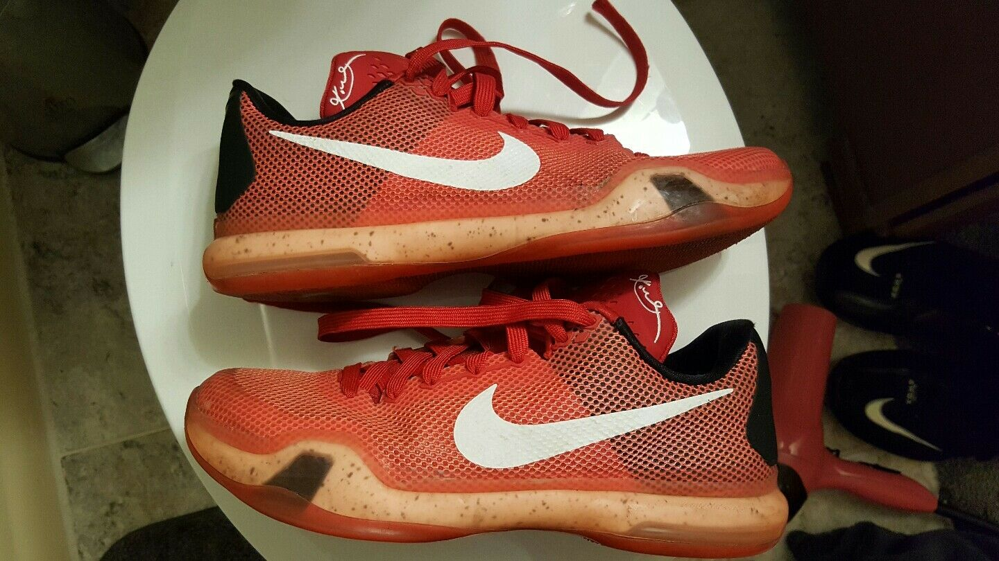 Special limited time Nike Kobe X 10 Low Majors University Red White Crimson 705317-616 Comfortable