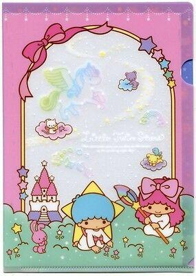 Sanrio Little Twin Stars Starry Night A5 Mini Plastic File Folder #2