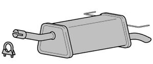 VAUXHALL ASTRA H 1.6 EXHAUST REAR SILENCER BACK BOX INC ...