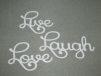Live Laugh Love Large White Words Wood Wall Decor