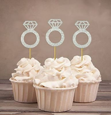 Diamant Zur Verbesserung Der Durchblutung Junggesellinenabschied Gepunktet Himmel Verlobungsring Cupcake Deckel