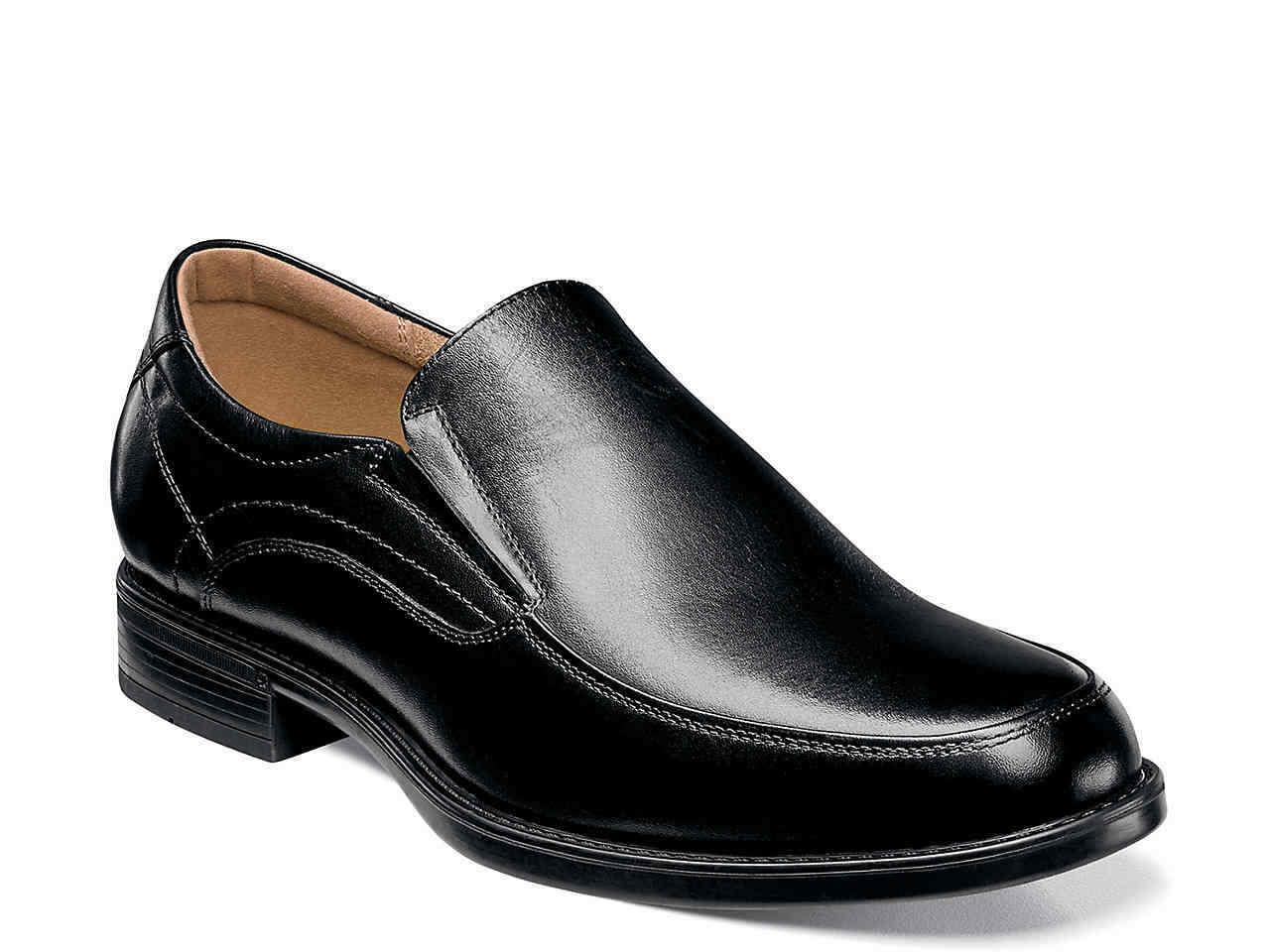 Florsheim MIDTOWN MOC SLP Homme Noir 12137-001 À Enfiler Confort Chaussures en cuir