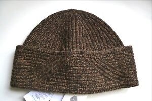 f88e20862 Details about LACOSTE Deep Cuff 100% Merino Wool Moule Brown Melange BEANIE  HAT OSFA Toque Tag