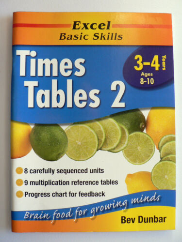 1 of 1 - Excel Times Table 2: Excel Maths, Years 3-4, Ages 8-10 by Bev Dunbar (P/b 2002)