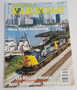 Railfan-amp-Railroad-Train-Magazine-Back-Issue-January-2006-Three-Rivers
