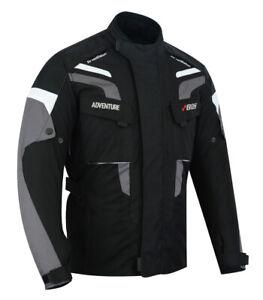 Motorradjacke-Textil-Protektoren-Jacke-Herren-Motorrad-Jacke-Roller-Biker-Jacke
