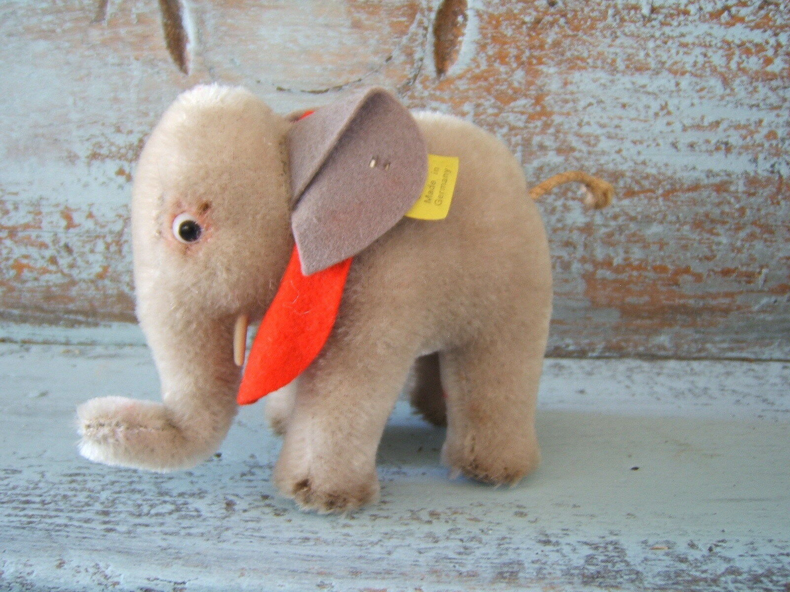Vintage Steiff Toy Stuffed 4'' Elephant 6310 0 with Original Tag