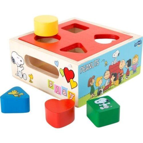 Steckspiele Motorikspielzeug Peanuts Steckwürfel Charlie Brown Snoopy Spielzeug Holz Formen Steckspiel Kinder