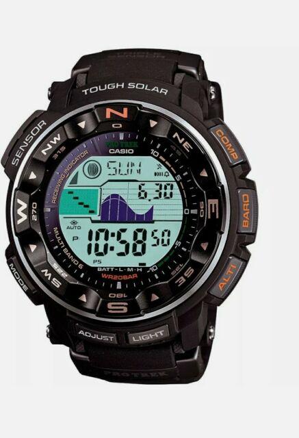 Casio Pro Trek Tough Solar Digital Men's Watch - Black PRW2500R-1 NEW OPEN BOX