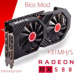 Details about XFX RX580-8GB-GTS XXX Edition BIOS Mod +31 MH/s Only 70 W  Ethereum Mining- show original title