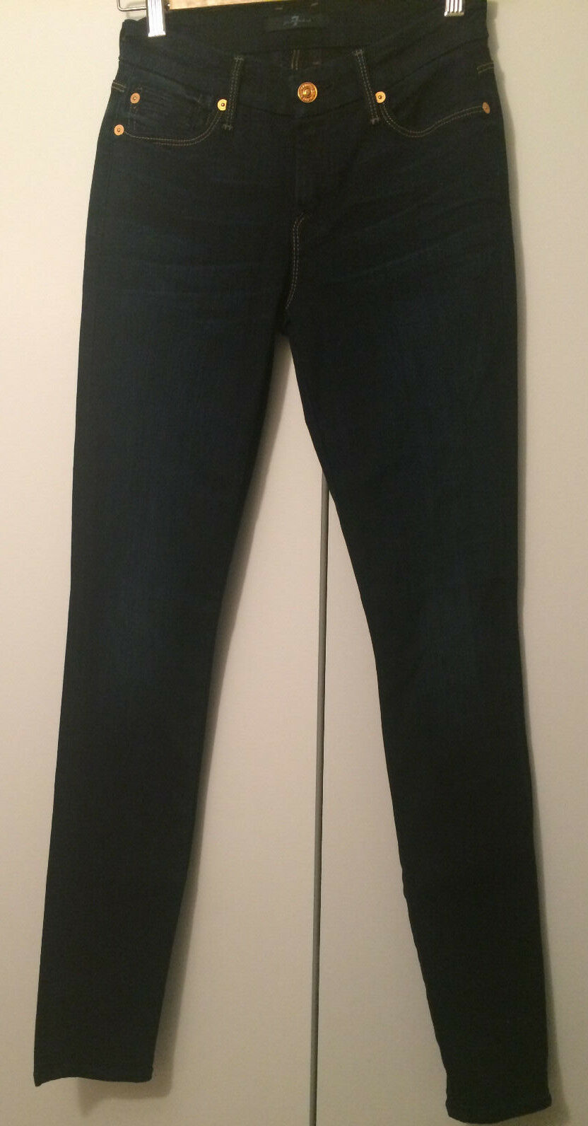 Brand New 7 For All Mankind Dark Wash Skinny Jeans Size 24