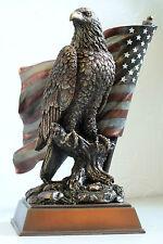eagle,adler,us-flagge,figur,26x16cm,bronziert,colouriert,symbol,usa,amerika,