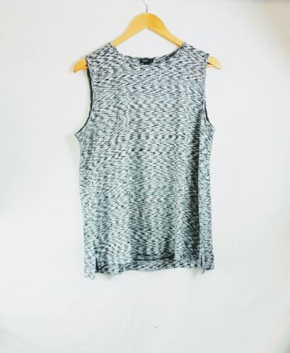 All Sizes Details about  /New J Jill Wearever Black White Space Dyed Long Tank Top