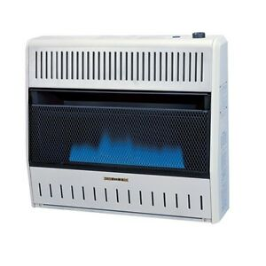 Pro 30 000 BTU LP Propane Blue Flame Vent Free Gas Wall