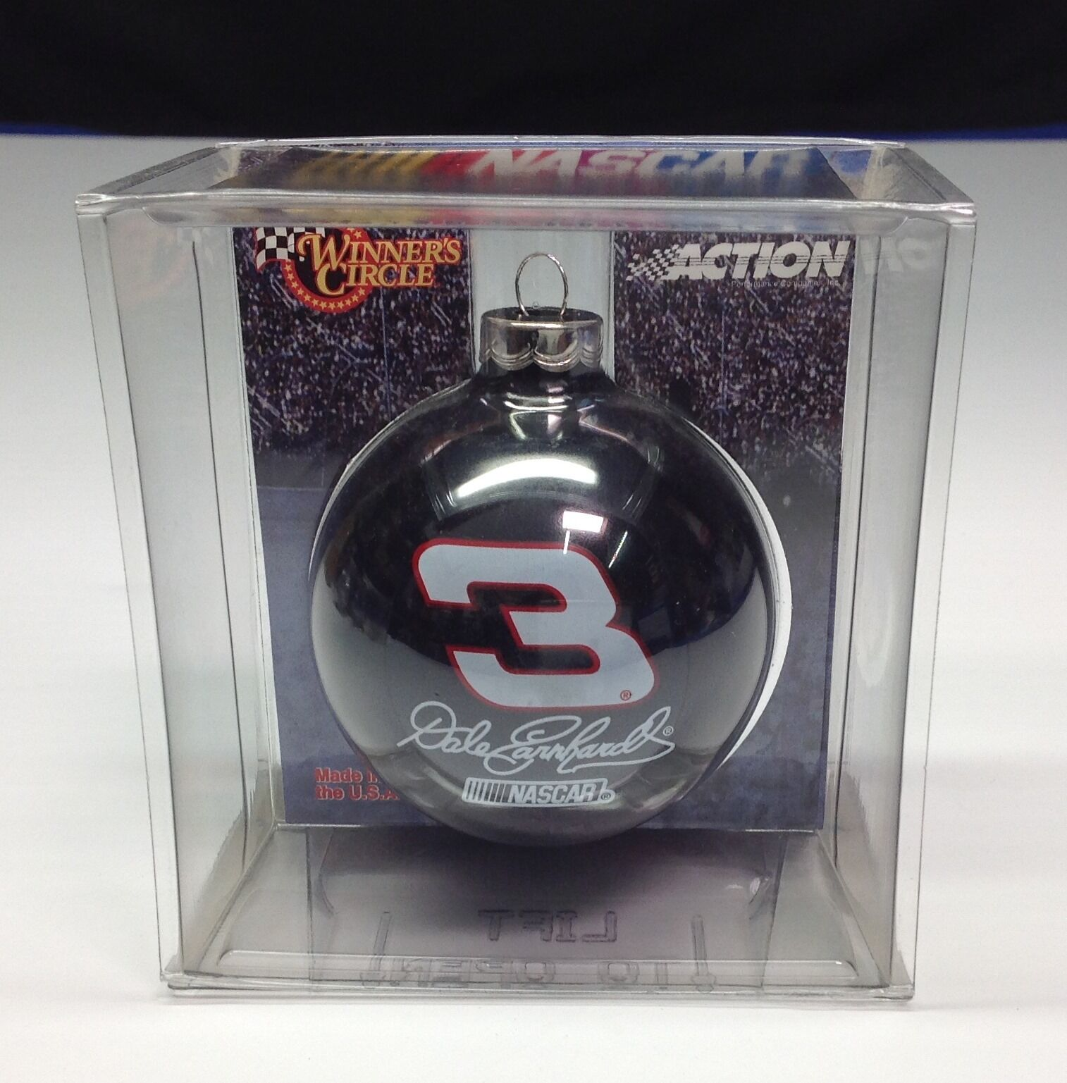 NASCAR Dale Earnhardt Glass Ball Christmas Ornament