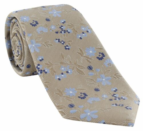 Michelsons of London Twill Floral Silk Tie