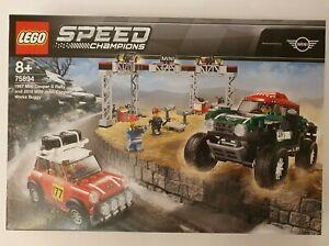 LEGO SPEED CHAMPIONS MINI COOPER S RALLY AND MINI JOHN COOPER NEW & SEALED 75894