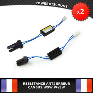 2-Resistances-Correction-anti-erreur-ODB-Module-Plug-amp-Play-LED-W5W-Wy5W