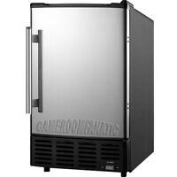Built-In -or- Portable Ice Maker Machine w/ Reversible Stainless Steel Door