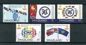 Swaziland-2016-MNH-36th-SADC-Summit-5v-Set-Flags-Stamps