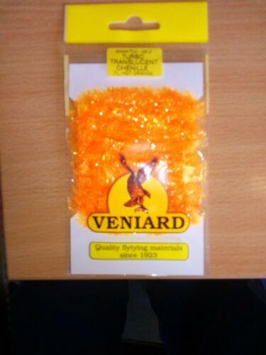 CHENILLE Veniard Turbo Translucent Chenille Fl Hot Orange 15mm